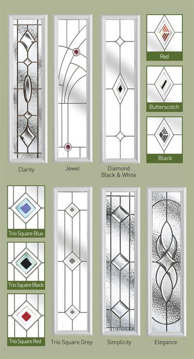 Diamond Glass Front Door